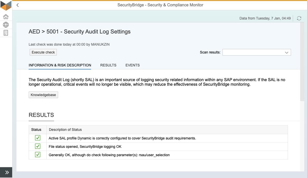 S&C Test - Security Audit Log Settings