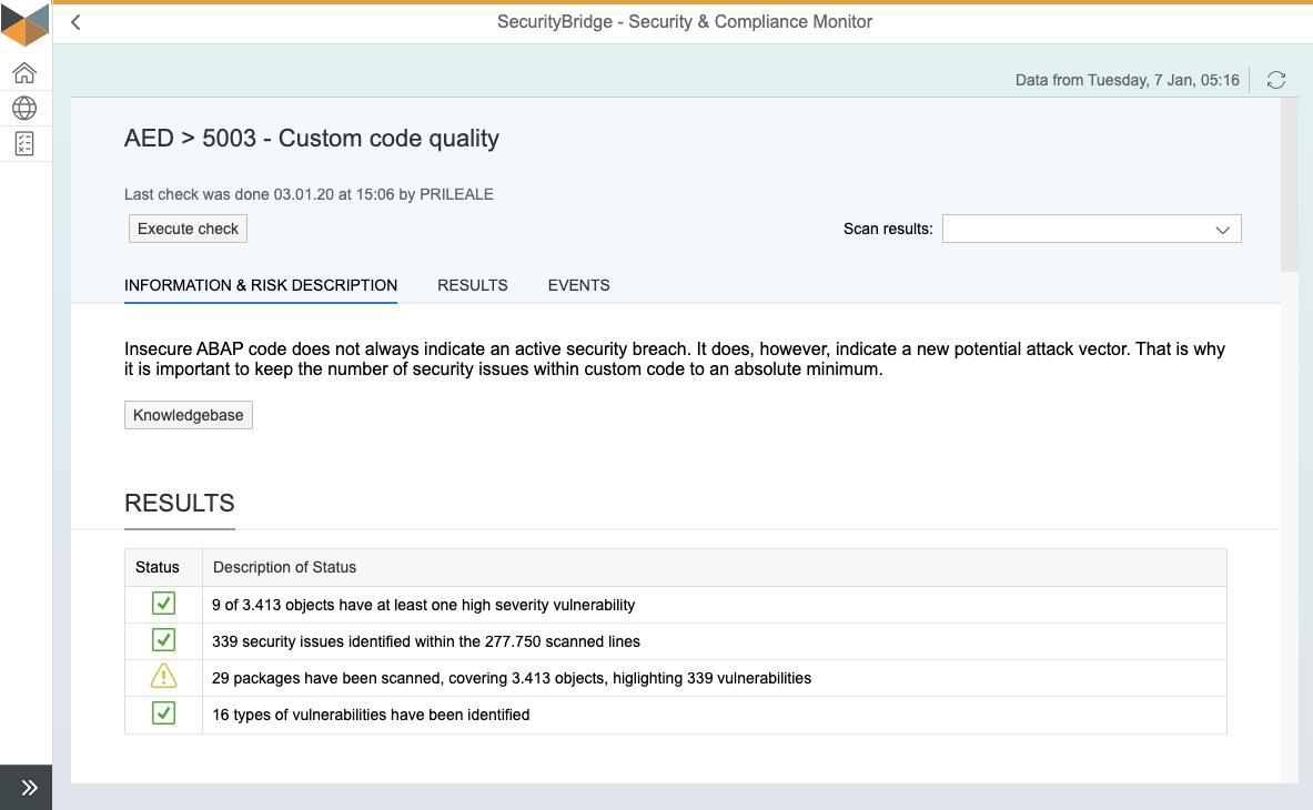 S&C Test - Custom Code Quality