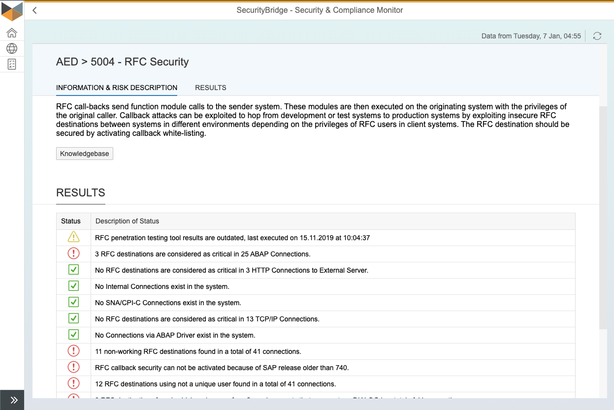 S&C Test - RFC Security