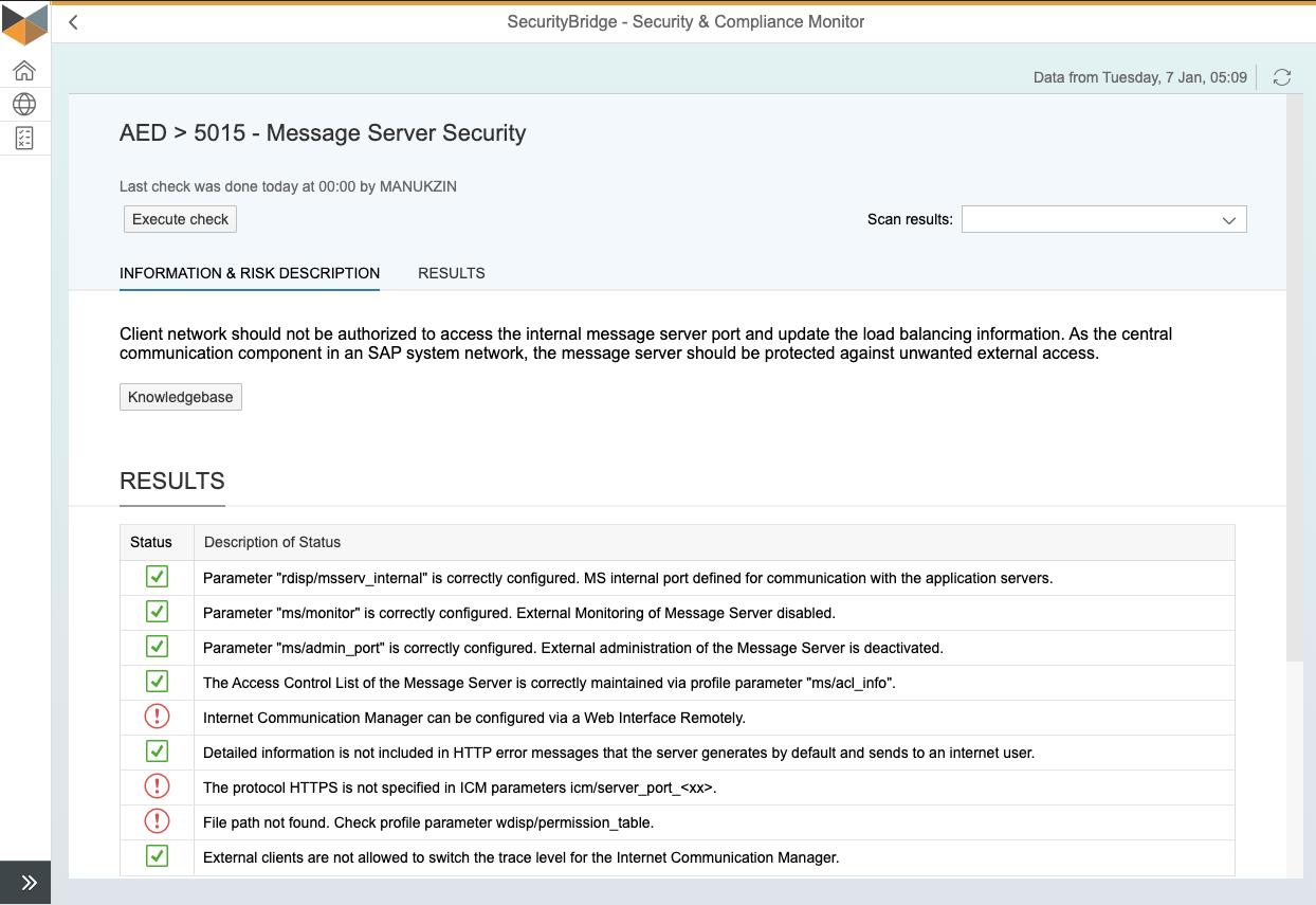 S&C Test - Message Server Security