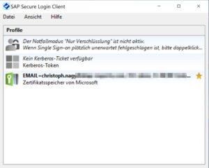 SAP Secure Login Client